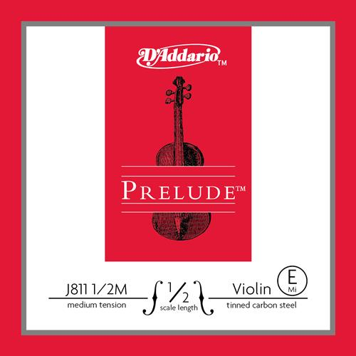 Prelude Violin String Set, 1/2 Scale, Medium Tension, Tinned Carbon Steel