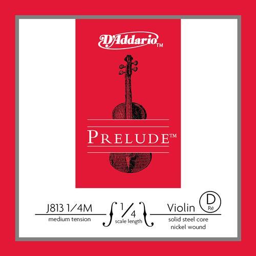 Prelude Violin Single D String, 1/4 Scale, Medium Tension