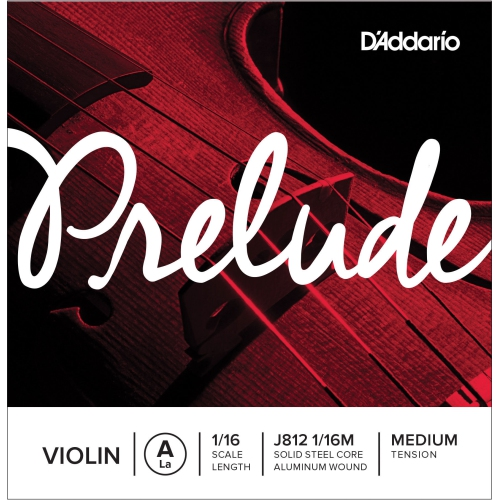 Prelude Violin Single A String, 1/16 Scale, Medium Tension