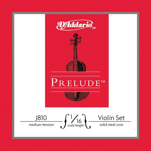 Prelude Violin String Set, 1/16 Scale, Medium Tension