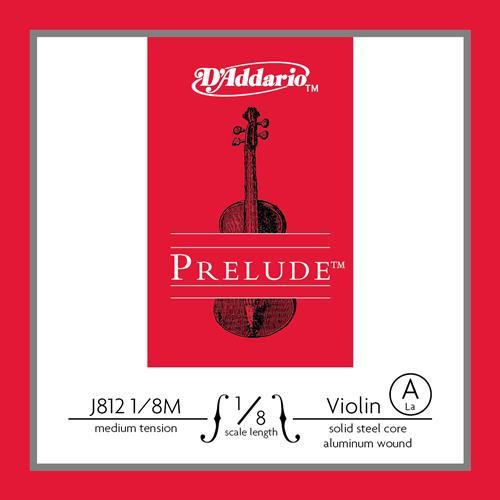 Prelude Violin Single A String, 1/8 Scale, Medium Tension
