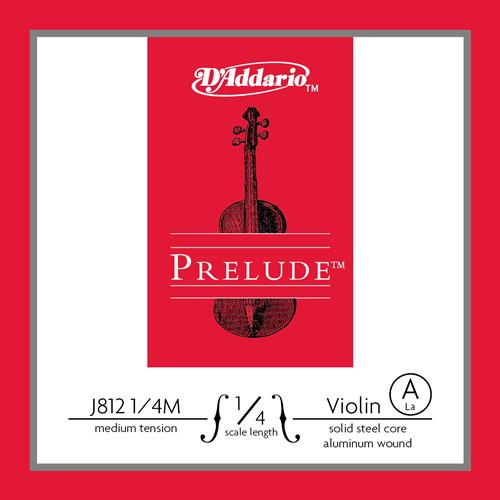 Prelude Violin Single A String, 1/4 Scale, Medium Tension