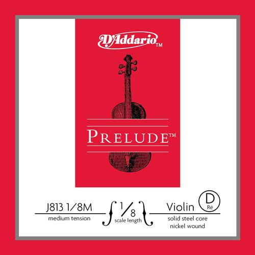 relude Violin Single D String, 1/8 Scale, Medium Tension
