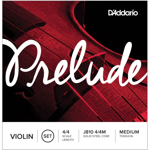 Prelude Violin String Set, 4/4 Scale, Medium Tension