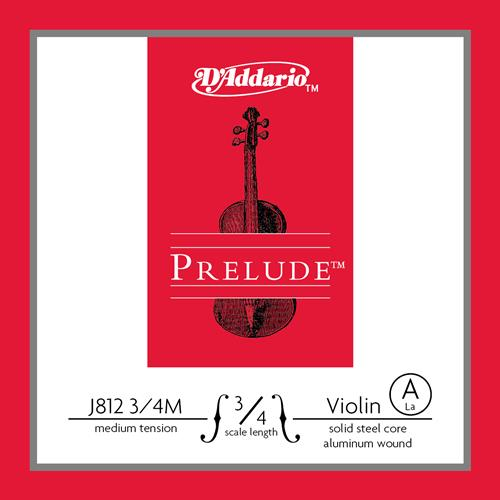 Prelude Violin Single A String, 3/4 Scale, Medium Tension