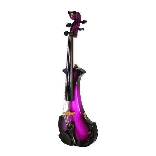 Violin Electric Bridge Aquila EV4 4/4 Outfit Purple/Black