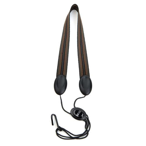 Rico SJA03 Fabric Saxophone Strap with Metal Hook - Jazz Stripe 2 - For Soprano/Alto