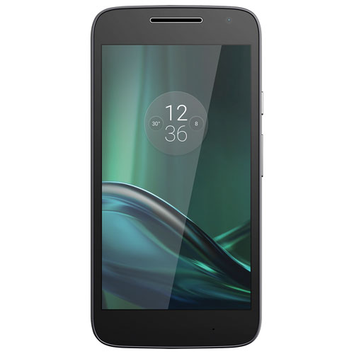 Téléphone intelligent Motorola G Play de 16 Go offert par Virgin Mobile - Noir - Forfait Or de 2 ans