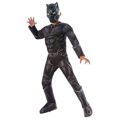 Marvel\u0027s Captain America Civil War Deluxe Kids Costume , Black Panther , 3  to 4 Years , Online Only