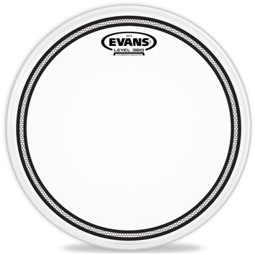 Evans B12EC2S EC2 Frosted Snare/Tom/Timbale Head - 12""