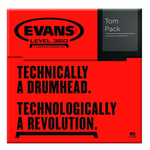 "Evans ETP-G2CTD-S G2 Coated Standard Tom Pack - 12"", 13"", 16"""