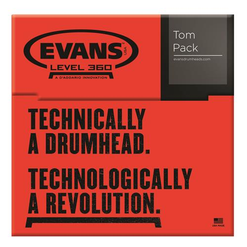 "Evans ETP-ONX2-F Onyx Tom Pack - Fusion - 10"", 12"", 14"""