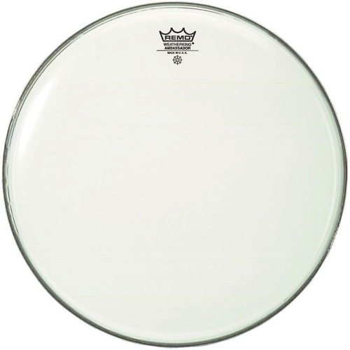 Remo BR-1222-00 Ambassador Bass Head - Smooth White - 28""