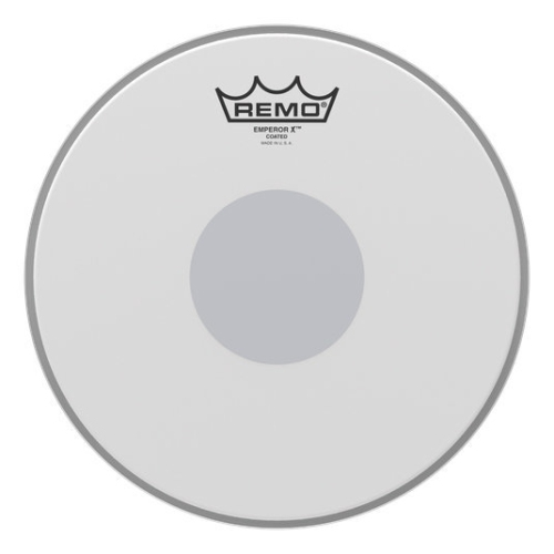 """Remo Emperor X Coated Snare Drumhead - Bottom Black Dot, 14"""""""