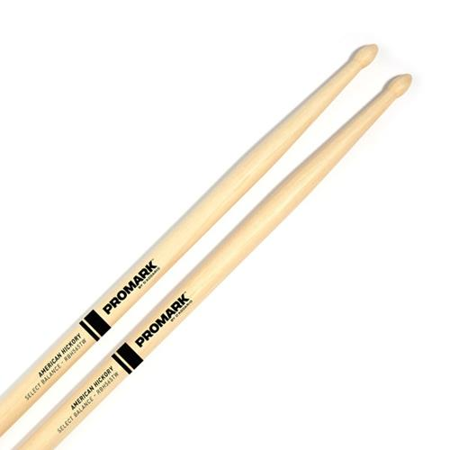 "ProMark FBH565TW Forward Balance Hickory Drumsticks - .565"" Tear Drop Wood Tip"