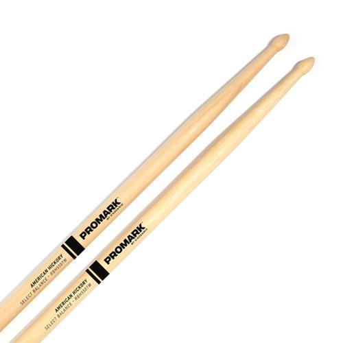 "ProMark Rebound 5A .550"" Hickory Tear Drop Drum Sticks - Wood Tip"