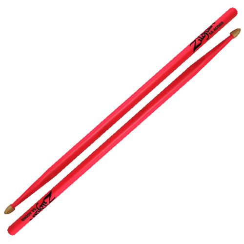 Zildjian Drum Sticks: 5ACWGP 5A Acorn Neon Pink