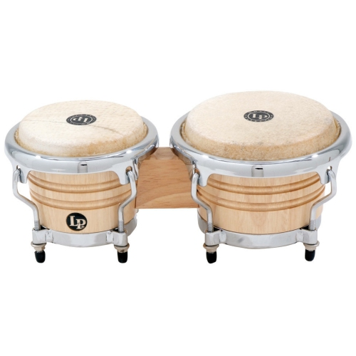 LP Music Collection Mini Tunable Bongos - Natural Wood