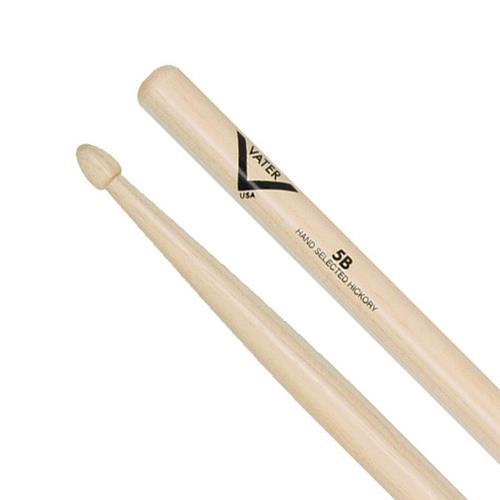 Vater 5B Hickory Drum Sticks - Wood, Acorn Tip