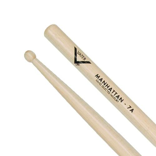 Vater Manhattan 7A Wooden Drum Sticks - Small Round Tip