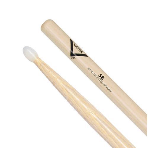Vater 5B Hickory Drum Sticks - Nylon, Acorn Tip