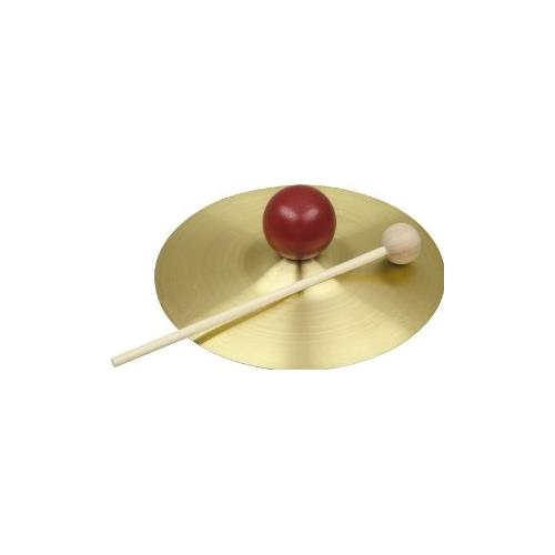 "Rhythm Band RB733S 5"" Solid Brass Cymbal with Knob and Mallet"