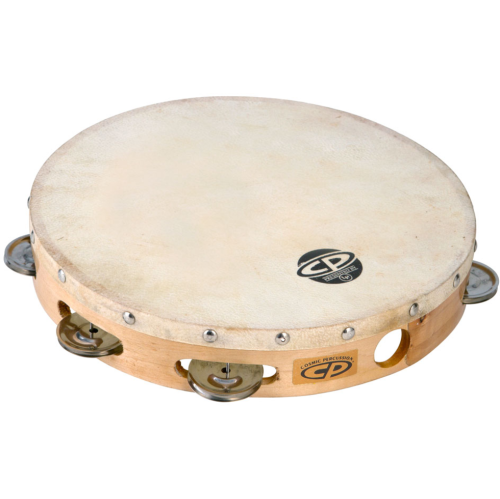 "Cosmic Percussion CP379 10"" Tambourine - Wood Headed with Single Row Jingles"