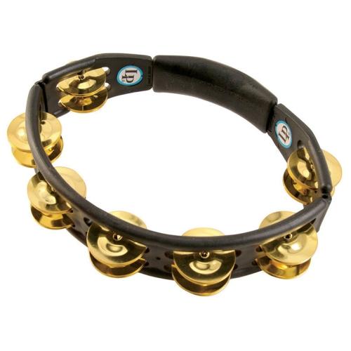 LP Handheld Cyclops Jingle Tambourine with Brass Jingles - Black