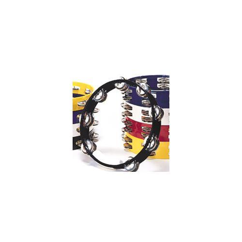 "Tambourine Rhythm Tech TC4010 10"" Double Jingles Black"