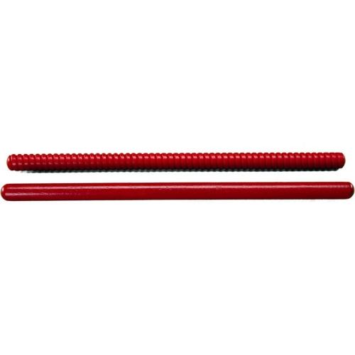 """Rhythm Band RB767A 10"""" Small Rhythm Sticks - 1 Fluted, 1 Plain - Pair"""