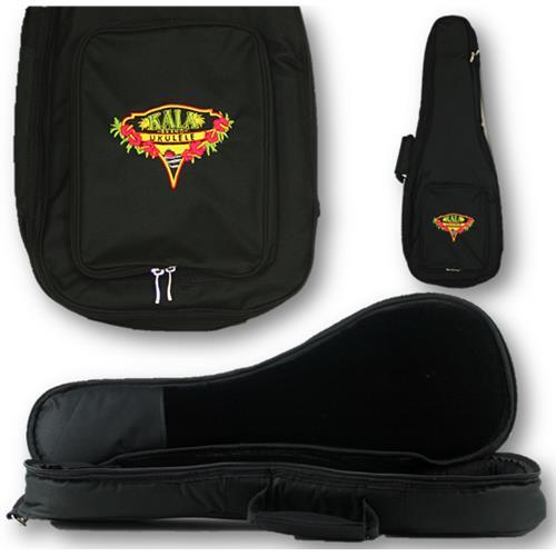 Kala DUB-BK Baritone Deluxe Heavy Padded Ukulele Bag with Logog
