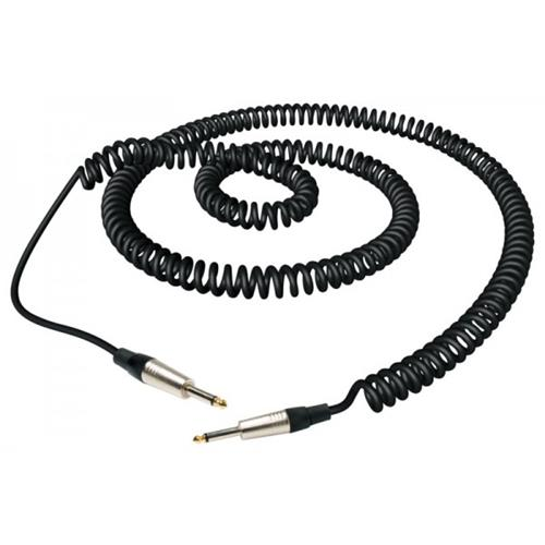"""RockCable RCL-30205D7C Straight 1/4"""" Guitar / Instrument Cable - 5m Black Coiled"""