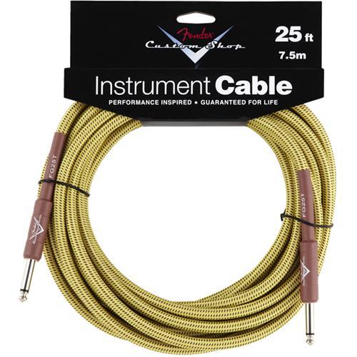 Fender Custom Shop Performance Series Cable - 25', Tweed