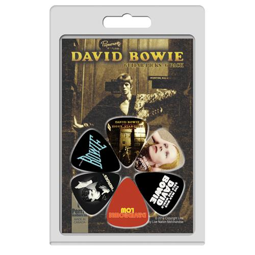 Perris David Bowie Licensed Guitar Picks - 6 Pack, Black and Orange