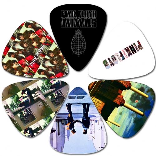 Perris Pink Floyd Licensed Guitar Picks - 6 Pack, Black, White