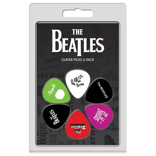 Perris The Beatles Licensed Guitar Picks - 6 Pack, Black, White, Pink, Green, Red