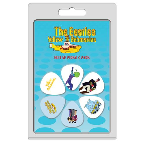 Perris The Beatles Yellow Submarine Licensed Guitar Picks - 6 Pack, Blue and White, Pattern 2
