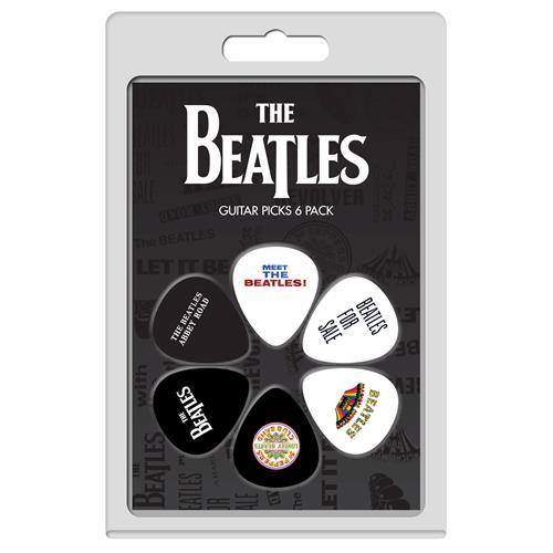 Perris The Beatles Licensed Guitar Picks - 6 Pack, Black, White