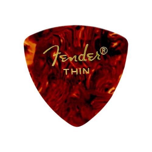 Fender 346 Shape Classic Celluloid Picks - Thin, Shell, 12 Pack