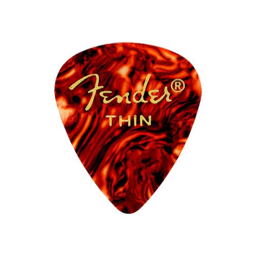 Fender 351 Shape Premium Picks - Thin, Shell, 12 Pack