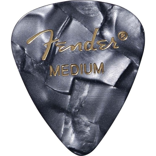 Fender 351 Shape Premium Picks - Medium, Black Moto, 12 Pack