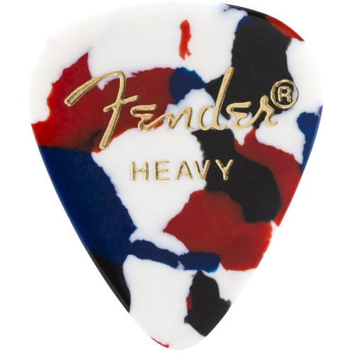 Fender 351 Shape Premium Picks - Heavy, Confetti, 12 Pack