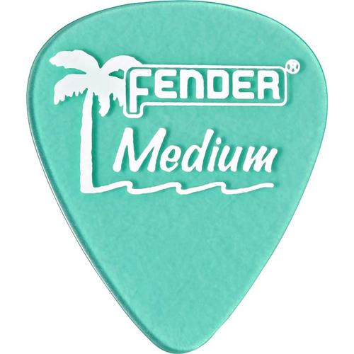 Fender California Clear Picks - Heavy, Surf Green, 12 Count
