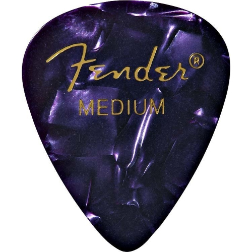 Fender 351 Shape Premium Picks - Medium, Purple Moto, 12 Pack