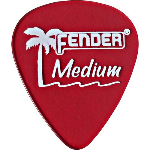 Fender California Clear Picks - Medium, Candy Apple Red, 12 Count