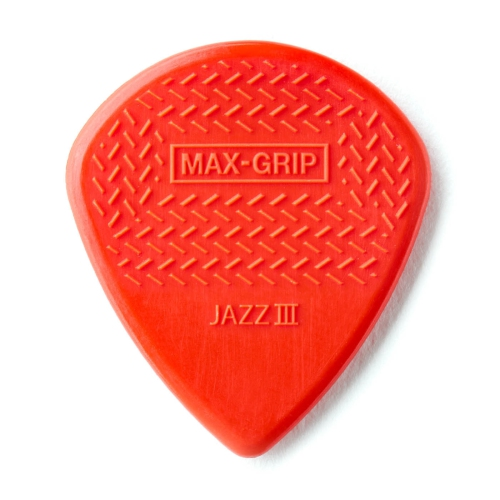 Picks Jim Dunlop Max Grip Jazz III Players Pack (6) Red Nylo