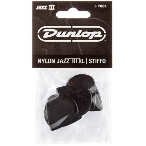 Picks Jim Dunlop Jazz III XL Black Stiffo Players Pack (6)