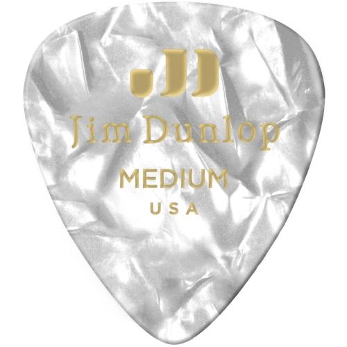 Picks Jim Dunlop 483P-04-MD Cellul. White Pearl Med (12)