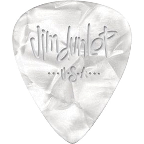 Picks Jim Dunlop 483P-04-TH Cellul. White Pearl Thin (12)
