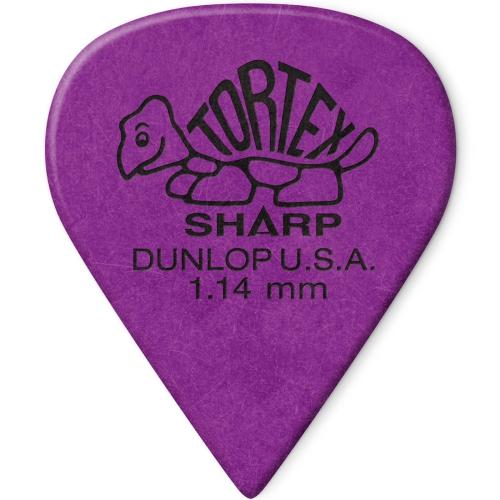 Dunlop Tortex Sharp Guitar Picks - 1.14mm, 12 Pack